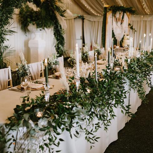 RUSTIC WEDDING TOP TABLE