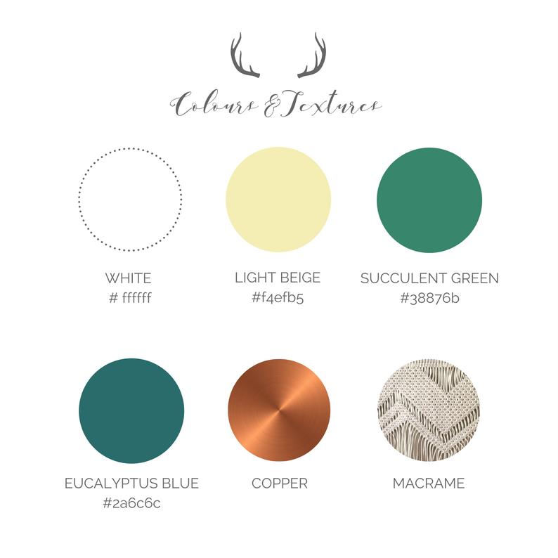 Boho Wedding Colour Palette