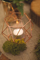 woodland wedding copper luxe moss