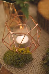 woodland wedding copper luxe moss