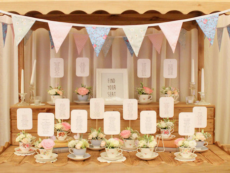 A Vintage Tea Cup Table Plan...