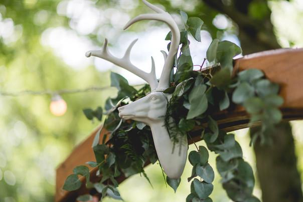 Hothorpe Hall Woodlands Wedding ceremony arch