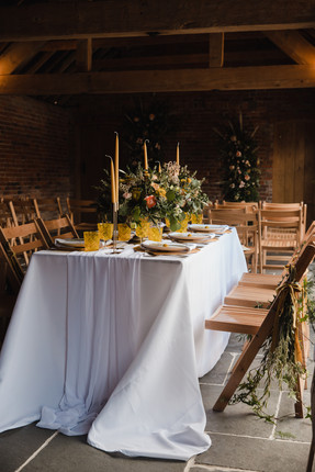 yellow wedding table decor