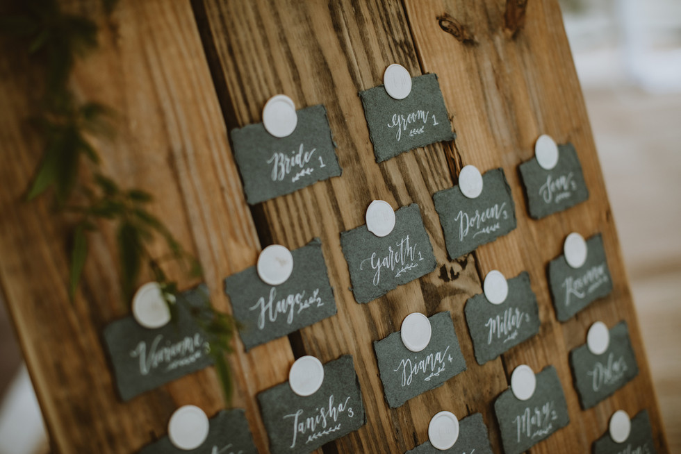 alternative wedding table plans rustic with wax seals