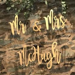 PERSONALISED NAME WEDDING SIGN