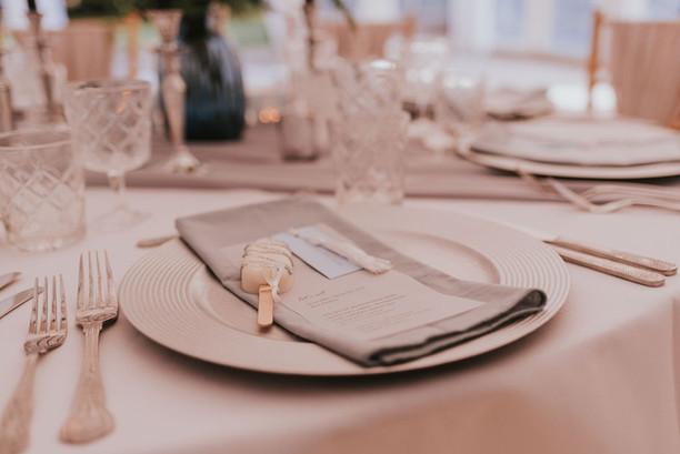 grey wedding napkins