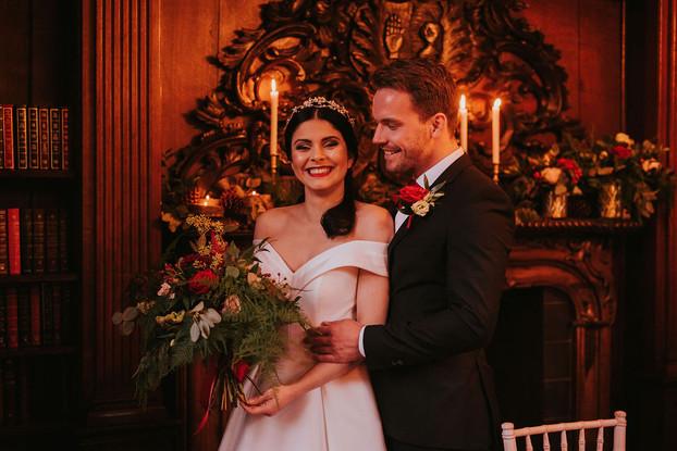 off the shoulder satin wedding dress