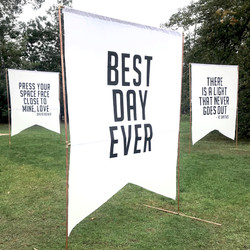 GIANT BANNER 2Mx1.5M BEST DAY EVER