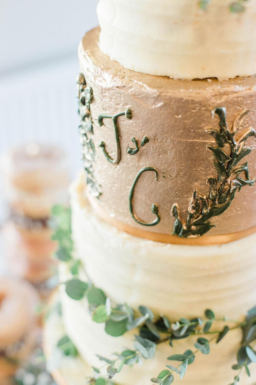 cake monogram wedding day