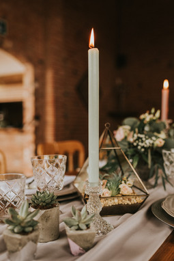 coloured wedding candles