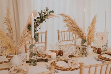 hoop wedding centrepiece
