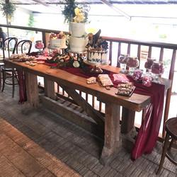 BURGUNDY CHIFFON TABLE RUNNER