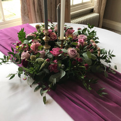 MULBERRY PURPLE TABLE RUNNER