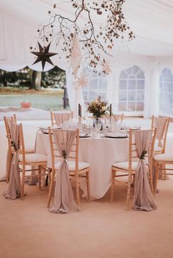 grey chiffon chair drapes