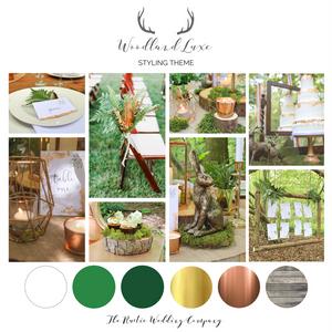 Woodland Luxe Wedding Styling Theme