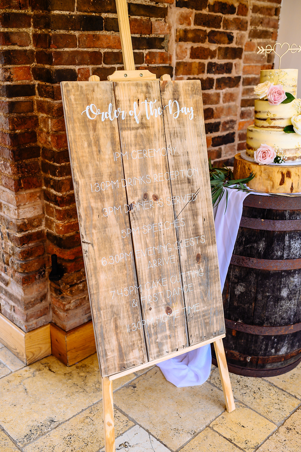 rustic wooden order of the day