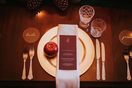 red wedding menus