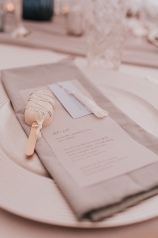 blue and silver wedding stationer