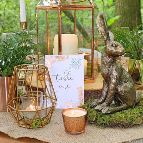 woodland wedding centre piece