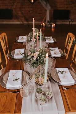 grey and lilac wedding