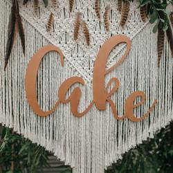 LARGE CAKE LASER CUT SIGNAGE