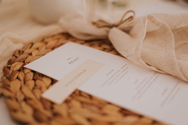 neutral wedding napkins