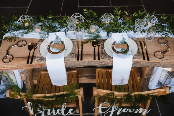 sweetheart table for two wedding