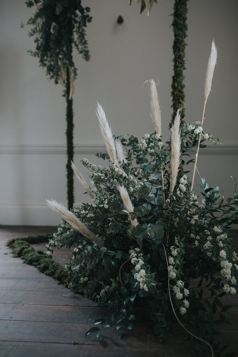 pampas grass wedding flowers