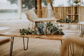 sami tipi sailcloth tent at cattows farm