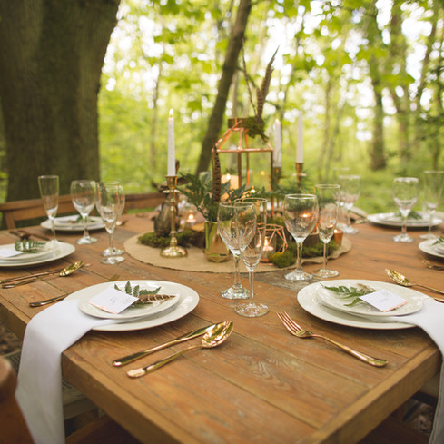 reclaimed wedding tables hire