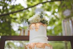 woodland wedding copper luxe wedding cake
