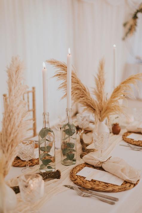 bottle wedding candles