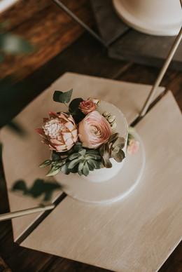 cake flowers blush pink