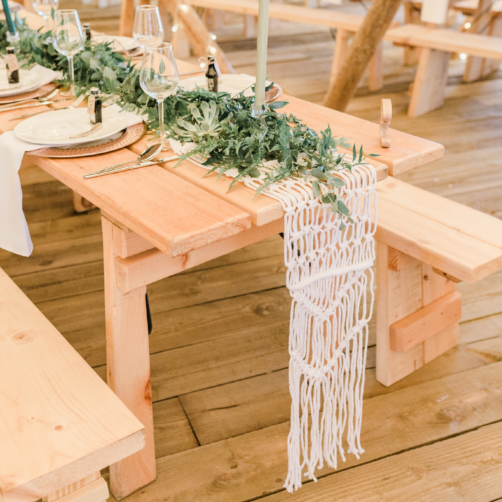 MACRAME TABLE RUNNER 2.5M LONG