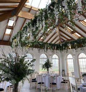 extra large hanging floral arrangement