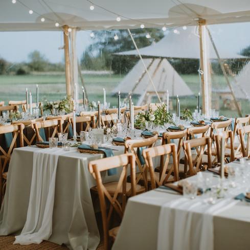 sami tipi sailcloth grey wedding decor