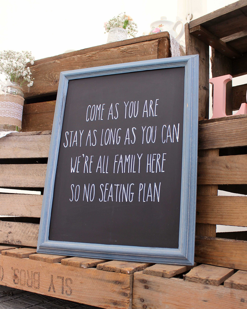 no seating plan chalkboard