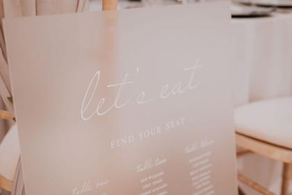 acrylic signage frosted wedding