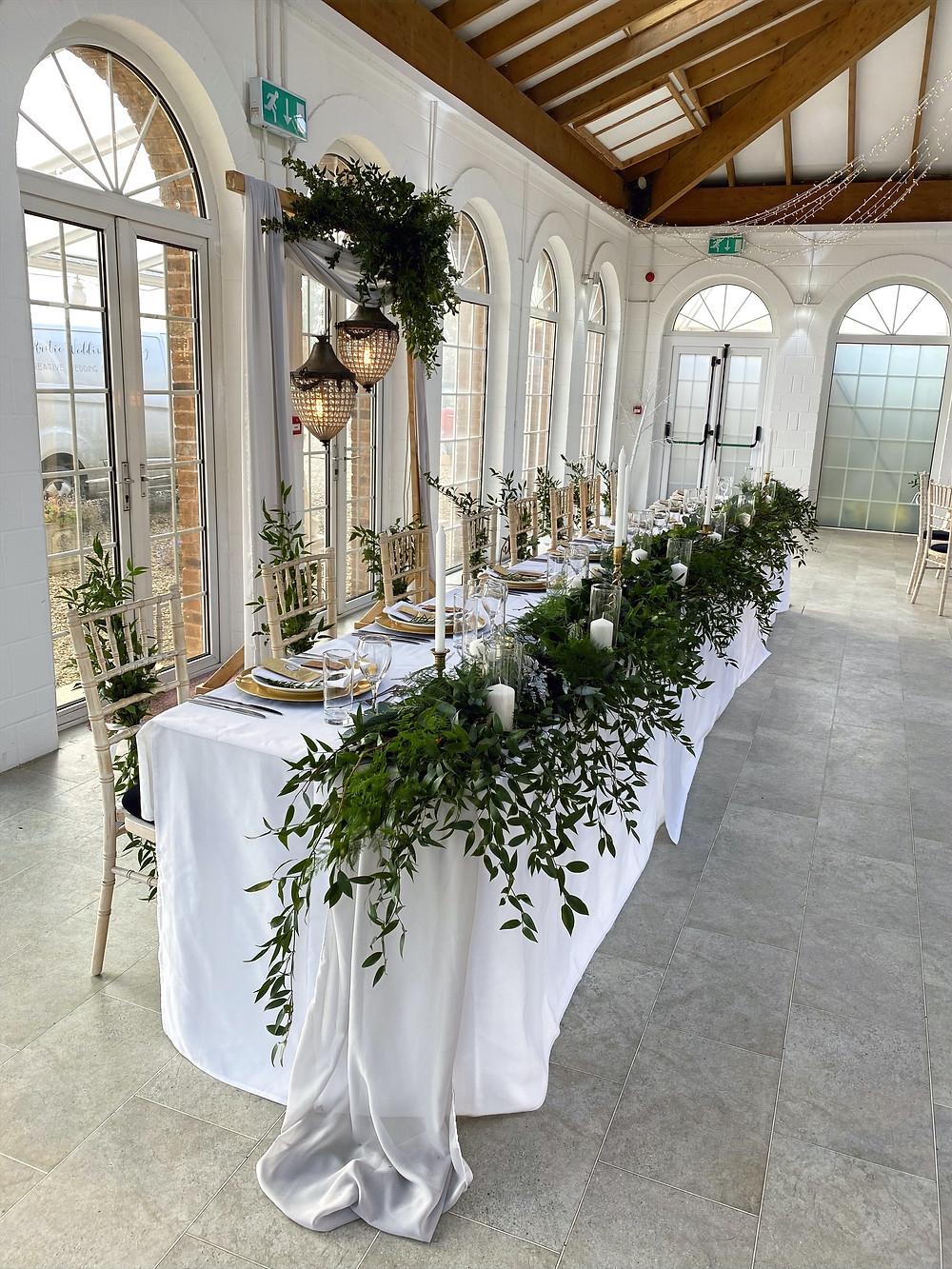 foliage leafy top table ideas