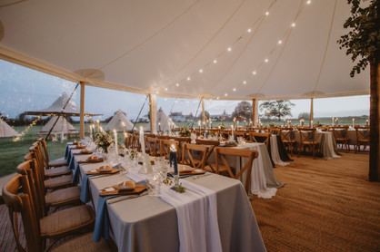 long banquet tables at weddings