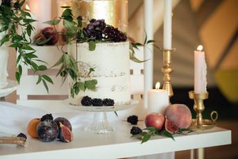 wedding cake with fruit