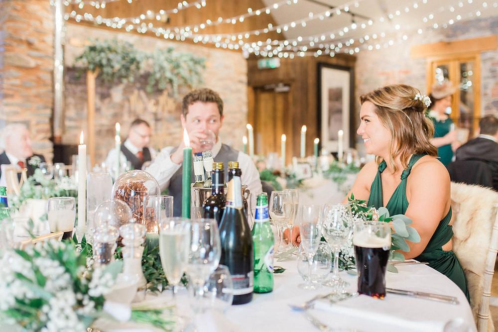 green and white colour scheme wedding