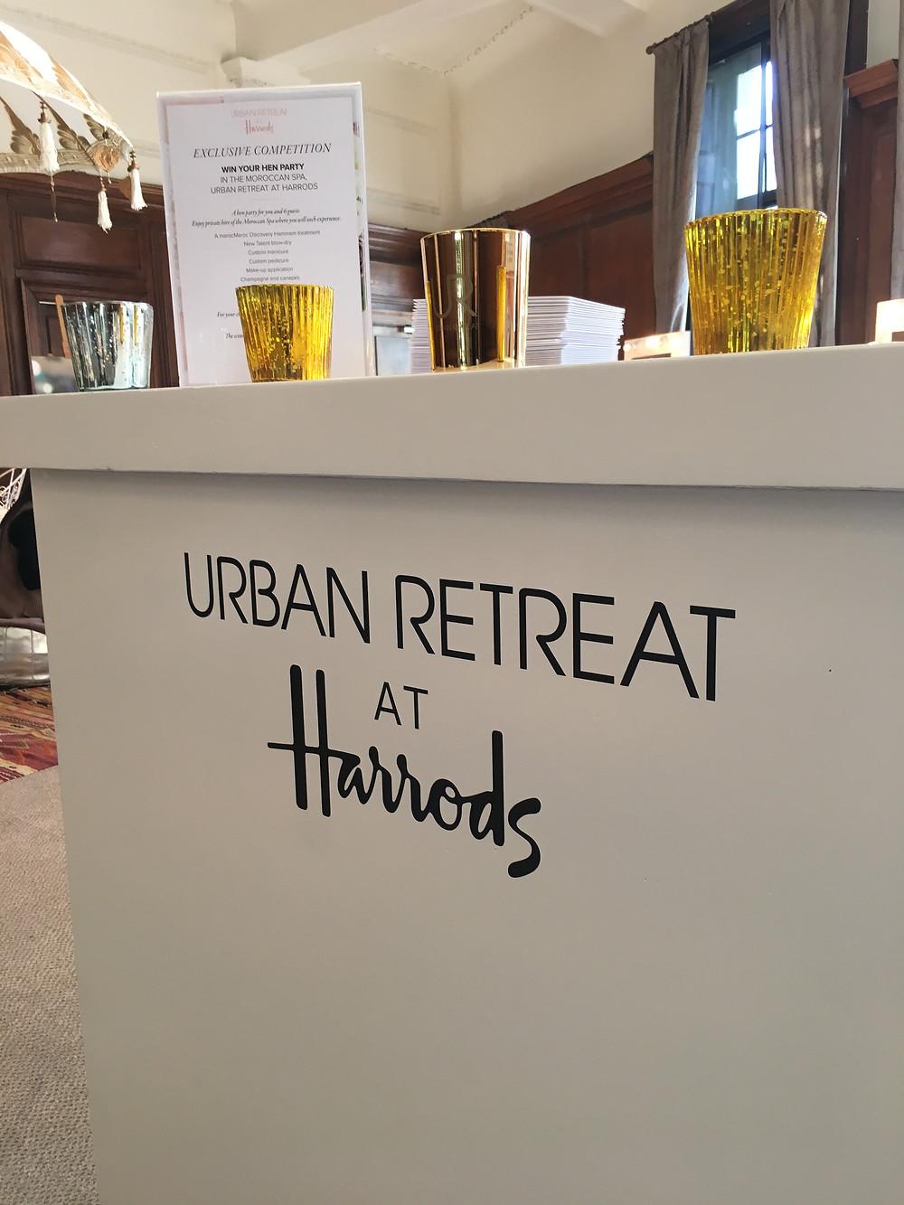 urban retreat at harrods Luxury wedding fair london