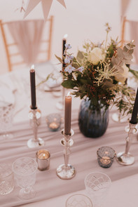 blue and silver wedding
