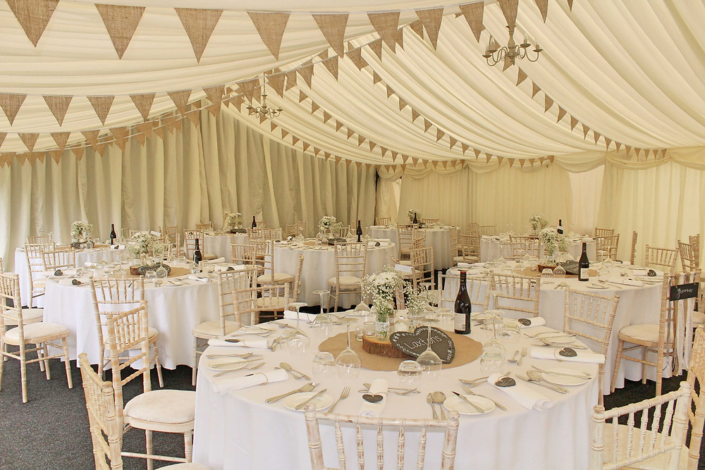 hessian bunting hire for weddings & events