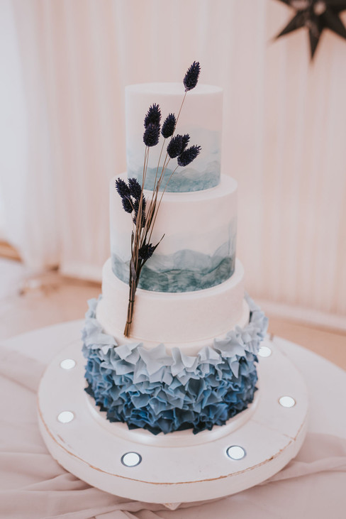 beautiful blue cake wedding ideas