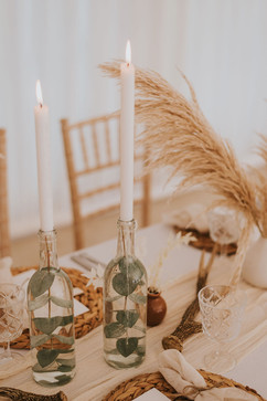 glass bottle upcycle wedding candlesticks