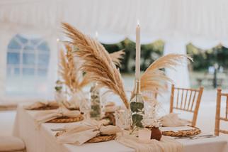papmas grass wedding centrepiece