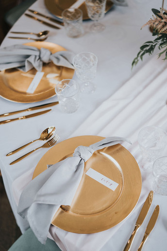 blush pink table runners for hire in leicestershire