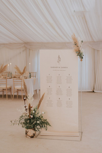 neutral wedding signage